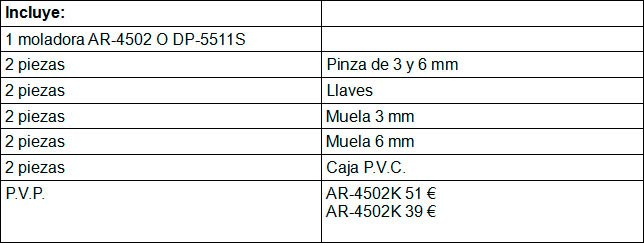 Compresores Lor tabla 133